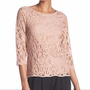 ADRIANNA PAPELL Lace Top NWT in Size Small